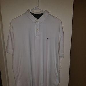 Solid white Tommy Hilfiger polo